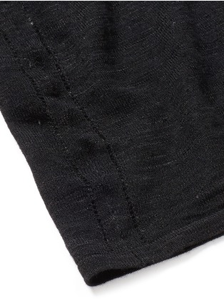 Detail View - Click To Enlarge - Isabel Marant Étoile - 'Derby' button sheer knit top