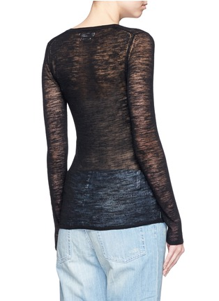 Back View - Click To Enlarge - Isabel Marant Étoile - 'Derby' button sheer knit top