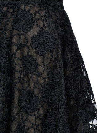 Detail View - Click To Enlarge - Giamba - Floral lace organza flare skirt
