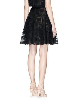 Back View - Click To Enlarge - Giamba - Floral lace organza flare skirt