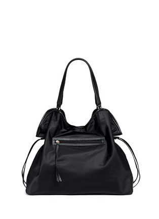 Back View - Click To Enlarge - Tory Burch - Drawstring nylon tote