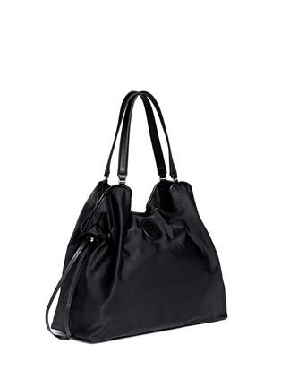 Front View - Click To Enlarge - Tory Burch - Drawstring nylon tote