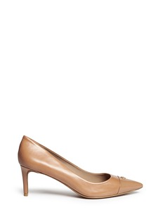 TORY BURCH 'Fairford' patent leather toe cap pumps