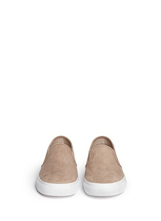 Figure View - Click To Enlarge - Tory Burch - 'Lennon' cobra effect leather skate slip-ons