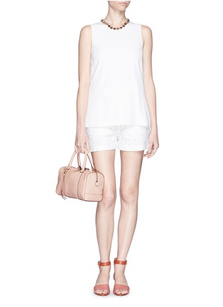 Figure View - Click To Enlarge - Tory Burch - 'Brodie' small leather satchel