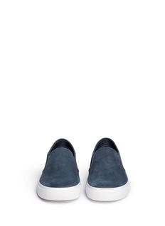 TORY BURCH'Lennon' cobra effect leather skate slip-ons