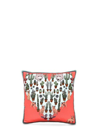 Main View - Click To Enlarge - Silken Favours - Desert Dreams print silk cushion