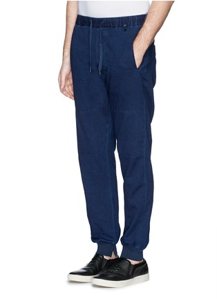 Front View - Click To Enlarge - COVERT - Garment dye cotton chino jogging pants