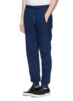 Garment dye cotton chino jogging pants