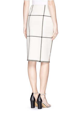 Back View - Click To Enlarge - ST. JOHN - Check Milano knit pencil skirt