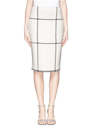 Main View - Click To Enlarge - ST. JOHN - Check Milano knit pencil skirt