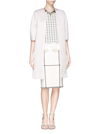 Figure View - Click To Enlarge - ST. JOHN - Check Milano knit pencil skirt