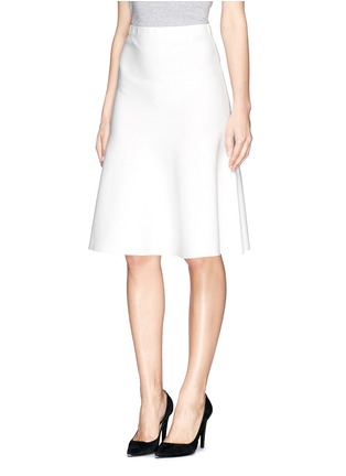Front View - Click To Enlarge - ST. JOHN - Milano knit flounce skirt