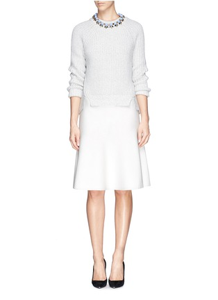 Figure View - Click To Enlarge - ST. JOHN - Milano knit flounce skirt
