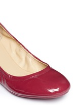 'Manhattan' patent leather ballerina flats