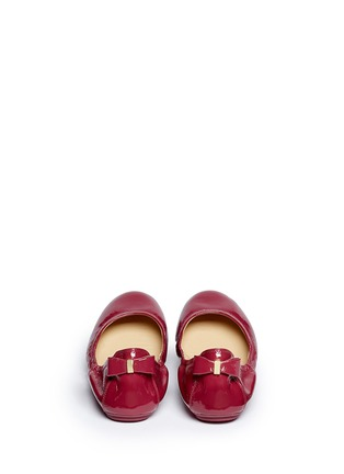 Back View - Click To Enlarge - Cole Haan - 'Manhattan' patent leather ballerina flats