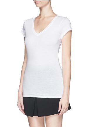 Vince-'Little boy' pima cotton-modal V-neck T-shirt