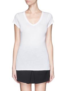 VINCECotton slub T-shirt