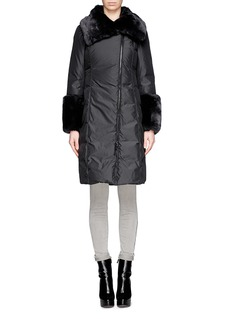 ARMANI COLLEZIONIRabbit fur collar and cuff down jacket