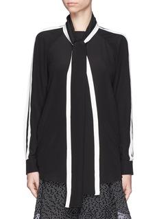 CHLOÉSilk scarf tie blouse