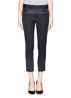 HAIDER ACKERMANNCropped wool-cotton twill pants