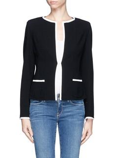 ARMANI COLLEZIONIContrast trim wool jacket
