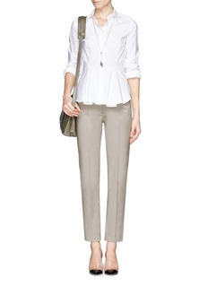 ARMANI COLLEZIONI Stretch cotton pants