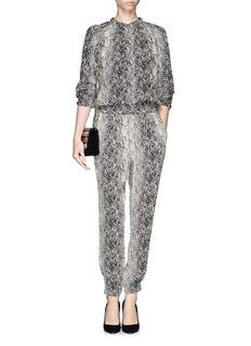 LANVINSnake print silk blouse