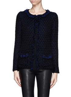 ARMANI COLLEZIONI Diamond stitch woven jacket