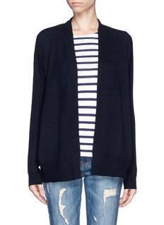 VINCEContrast knit cashmere cardigan