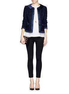 ARMANI COLLEZIONISatin trim tweed jacket