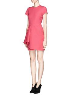 VALENTINOCrepe Couture drape pleat wrap dress