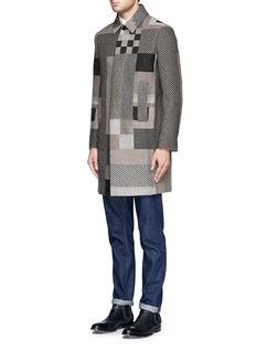 VALENTINOJigsaw straight wool coat
