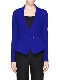 ARMANI COLLEZIONIShawl collar wool peplum jacket