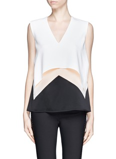 STELLA MCCARTNEY Curve layer crepe top