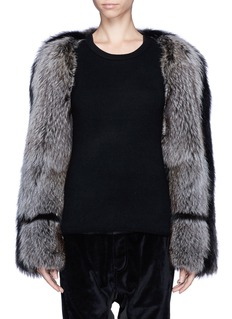 HAIDER ACKERMANN'Modrone' raccoon fur bolero
