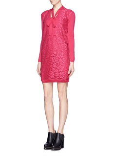 VALENTINO Guipure lace front knit dress