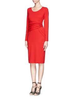 ARMANI COLLEZIONI Ruche waistband knit dress