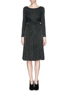 ARMANI COLLEZIONIMetallic shimmer tie front dress
