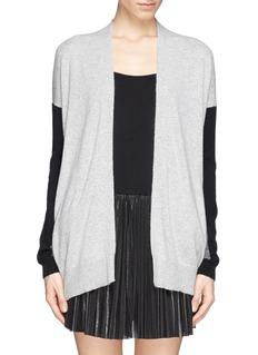 VINCEColourblock cashmere drape sweater