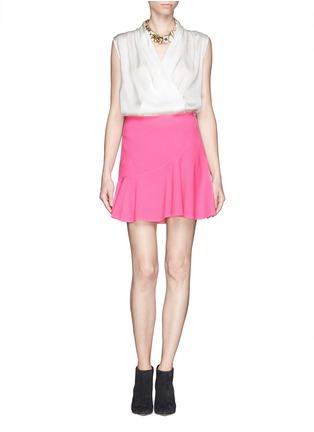 Figure View - Click To Enlarge - Emilio Pucci - Asymmetric flounce skirt