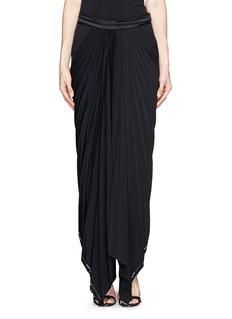 ELLERY'Ahura' satin tie wool pleat apron dress