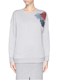NO. 21 Sequin firework appliqué sweatshirt