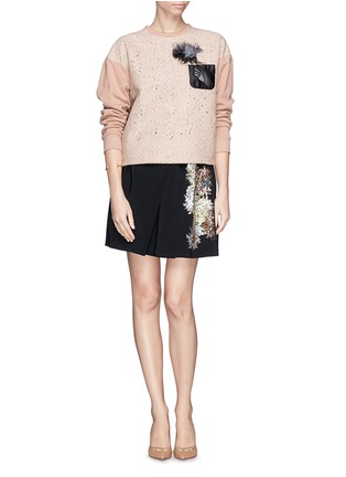 Figure View - Click To Enlarge - NO.21 - Sequin firework crepe skirt
