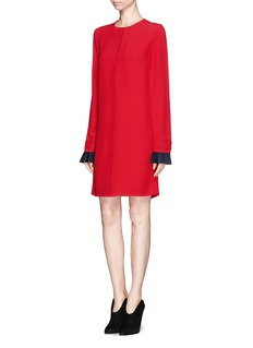 VICTORIA, VICTORIA BECKHAM Pleat cuff shift dress