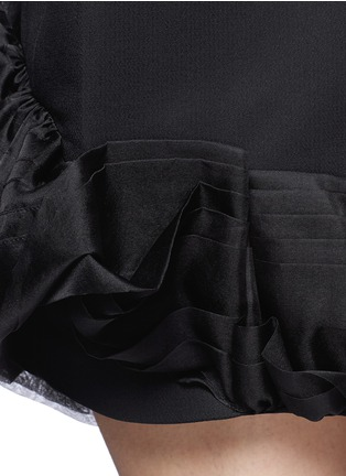 Detail View - Click To Enlarge - Victoria Beckham - Ruffle organza hem crepe dress