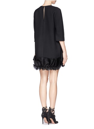 Back View - Click To Enlarge - Victoria Beckham - Ruffle organza hem crepe dress