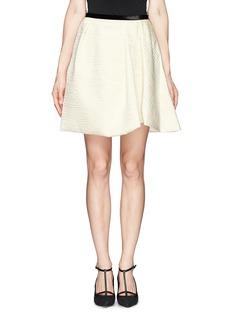 ERDEM'Roza' velvet waistband cloqué skirt