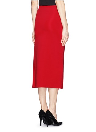 Back View - Click To Enlarge - Victoria Beckham - Asymmetric pleat stretch jersey midi skirt