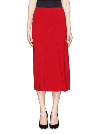 Main View - Click To Enlarge - Victoria Beckham - Asymmetric pleat stretch jersey midi skirt